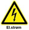 Fare for elektrisk støt fra elektriske maskiner og komponenter
