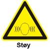 fare for støy over 80 dB